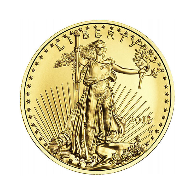 goldsilver.com - 2016 1/4 oz American Gold Eagle Coin Front