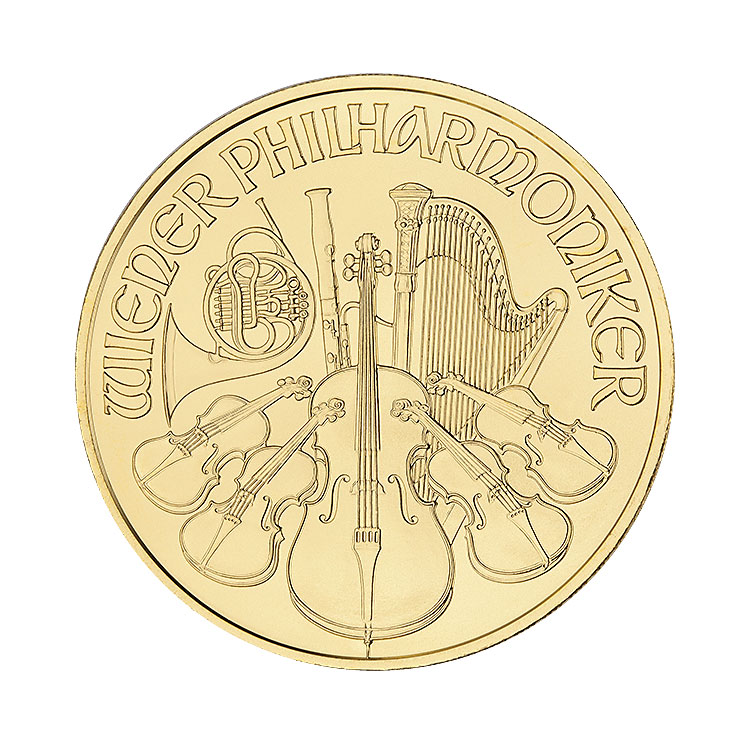goldsilver.com - 1 oz Austrian Philharmonic Gold Coin (Our Choice) Front