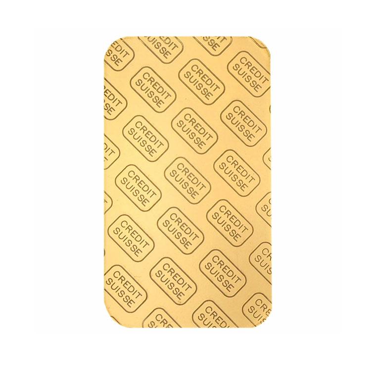 goldsilver.com - 1 oz Credit Suisse Gold Bar Back