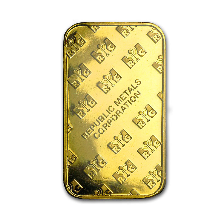 Republic Metals 1 Oz Gold Bar Buy Online At Goldsilver 174