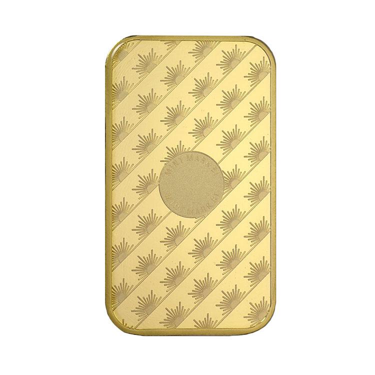 goldsilver.com - 1 oz Sunshine Mint Gold Bar Back