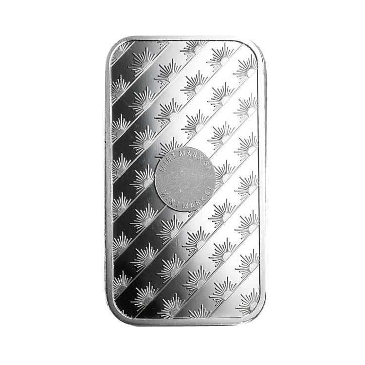 goldsilver.com - 1 oz Sunshine Mint Silver Bar Back