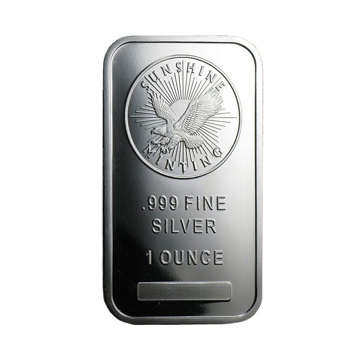 1 Oz Sunshine Mint Silver Bar For Sale At Goldsilver 174