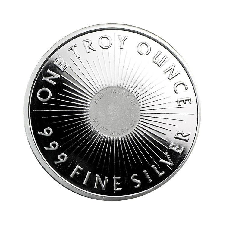 goldsilver.com - Sunshine Mint Silver Rounds, 1 oz Back