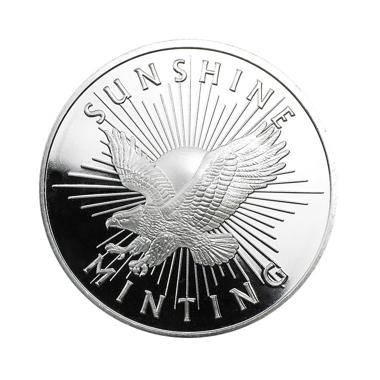 goldsilver.com - Sunshine Mint Silver Rounds, 1 oz Front