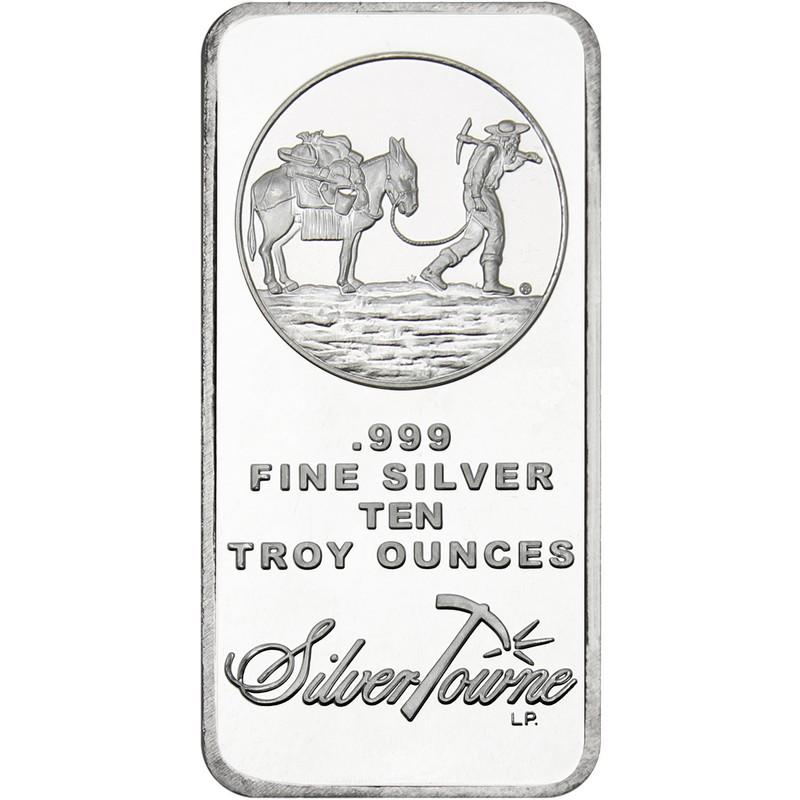 10 Oz Prospector Silver Bar Buy Online At Goldsilver