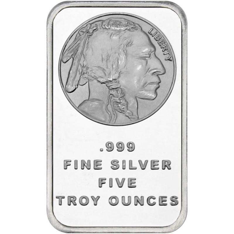 5 Oz Buffalo Silver Bar Buy Online At Goldsilver