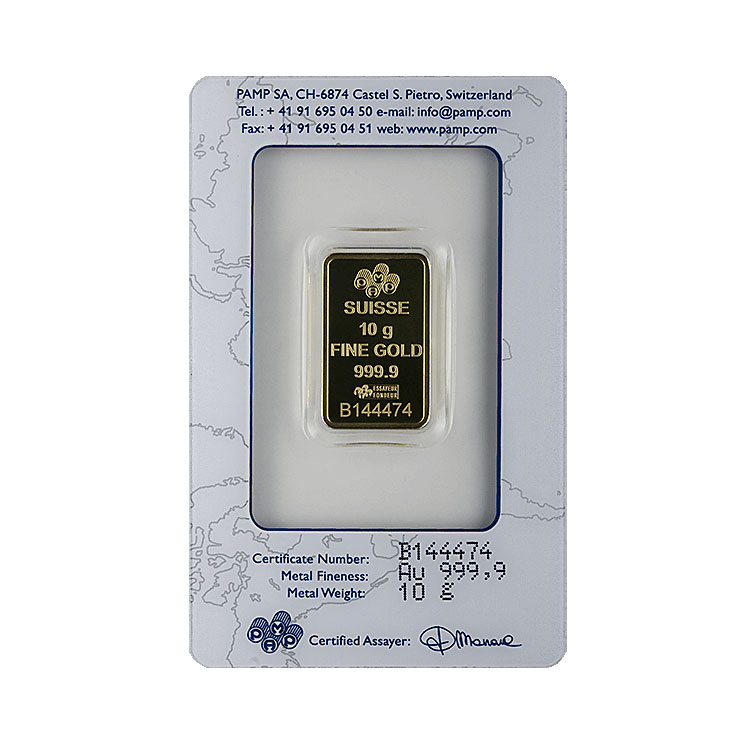 10 G Pamp Gold Bar Suisse Lady Fortuna For Sale At