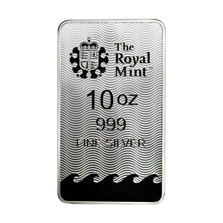 10 Oz Britannia Silver Bar Buy Online At Goldsilver