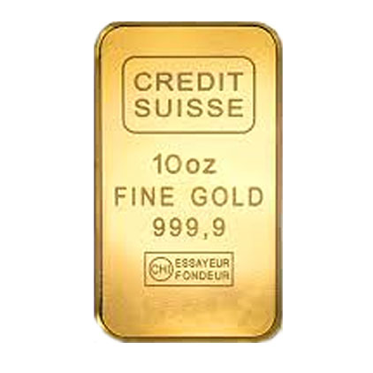 10 Oz Credit Suisse Gold Bar Buy Online At Goldsilver 174