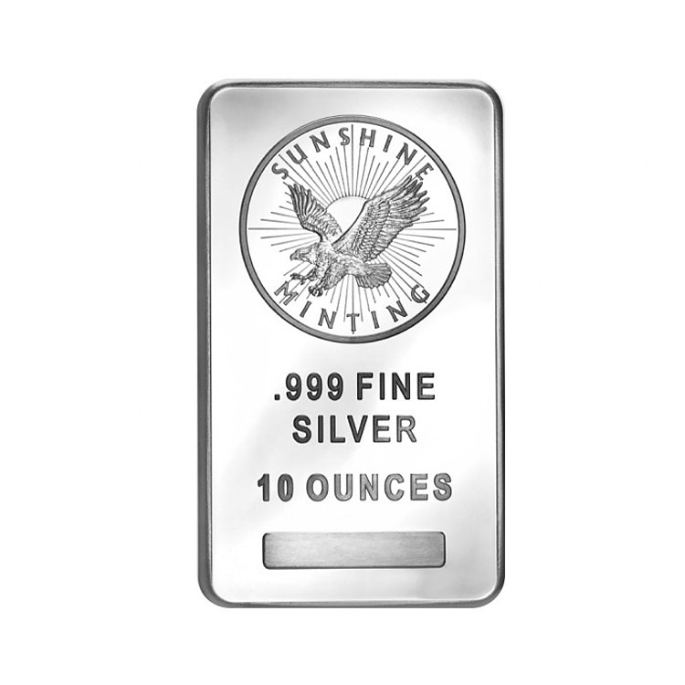 10 Oz Sunshine Mint Silver Bar Buy Online At Goldsilver 174