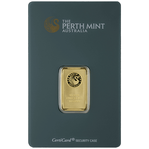 goldsilver.com - 10 gram Perth Mint Gold Bar Front