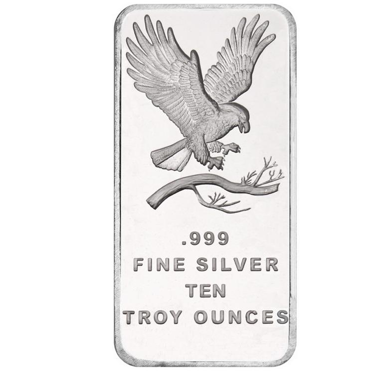 10 Oz Eagle Silver Bar Buy Online At Goldsilver 174