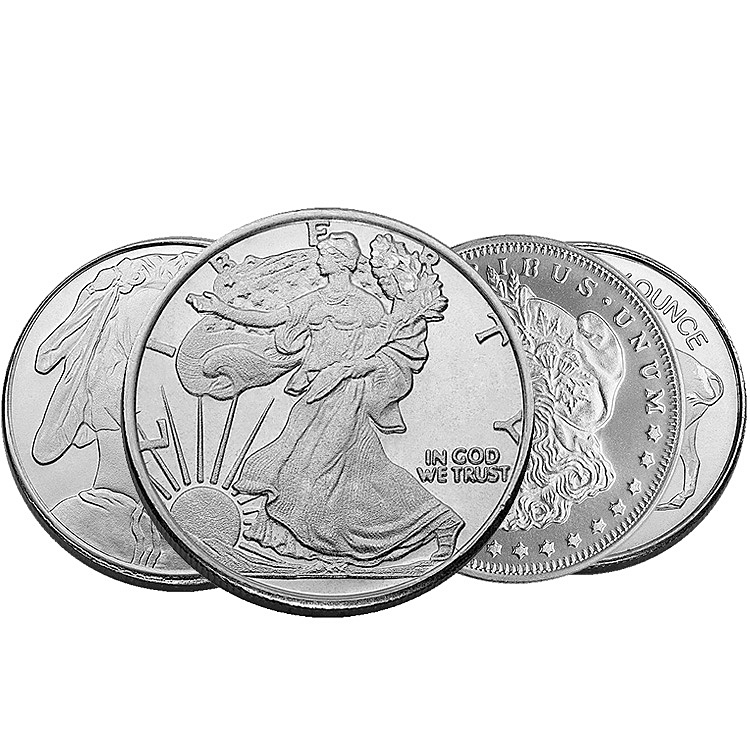 1 2 Oz Silver Rounds Buy Online At Goldsilver Com