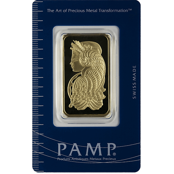 1 Oz Pamp Suisse Gold Bar Lady Fortuna Buy Online At