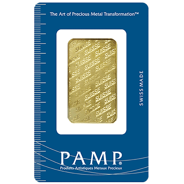 goldsilver.com - 1 oz PAMP Suisse Gold Bar Front