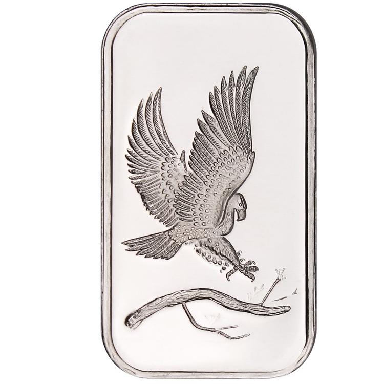 1 Oz Eagle Silver Bar Buy Online At Goldsilver