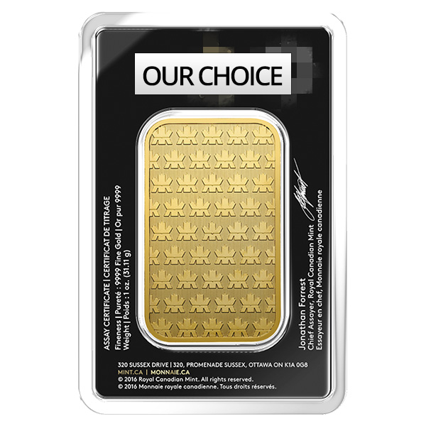 goldsilver.com - 1 oz Gold Bar - Our Choice (IRA Approved) Back