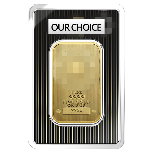 goldsilver.com - 1 oz Gold Bar - Our Choice (IRA Approved) Front