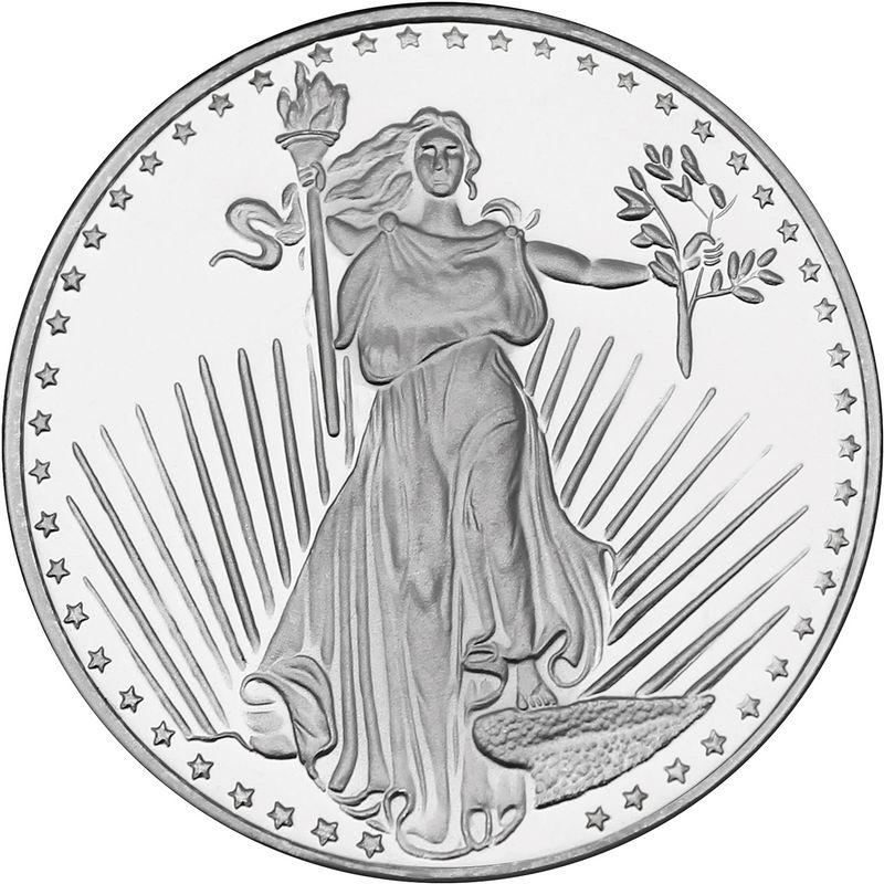 1 oz saint gauden silver round
