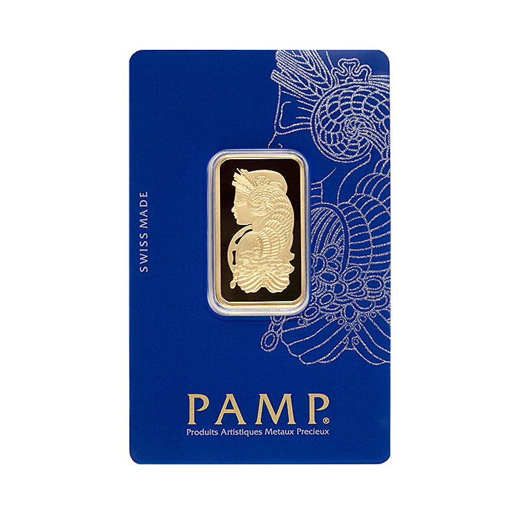goldsilver.com - 20 g PAMP Suisse Gold Bar (Lady Fortuna) Front