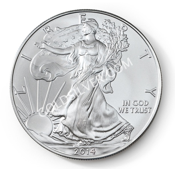 goldsilver.com - American Silver Eagle Coin 1 oz Front