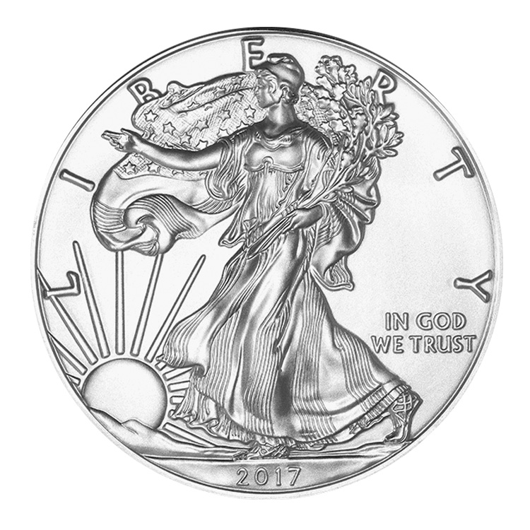 goldsilver.com - 1 oz American Silver Eagle Coin (2017) Front