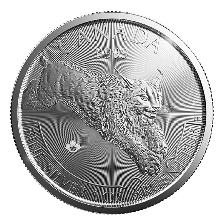 goldsilver.com - 1 oz Canadian Lynx Silver Coin (2017) Back