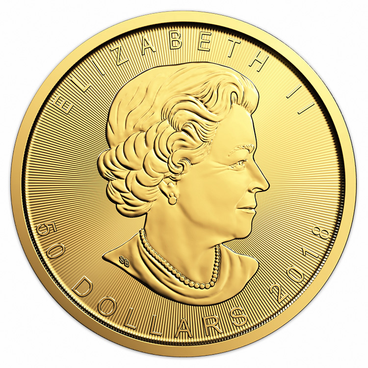1 Oz Canadian Gold Maple Leaf Coin 2018 Buy Online At