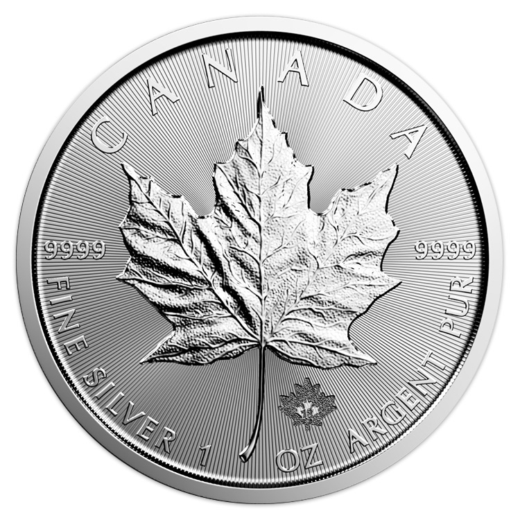 1 oz Canadian Silver Maple Leaf Coin (2018) - Buy Online ...