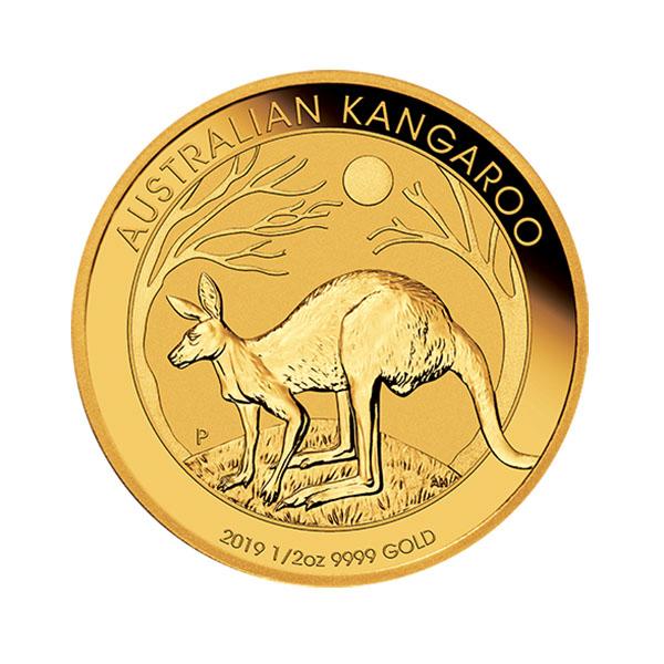 1 2 Oz Australian Gold Kangaroo Coin 2019