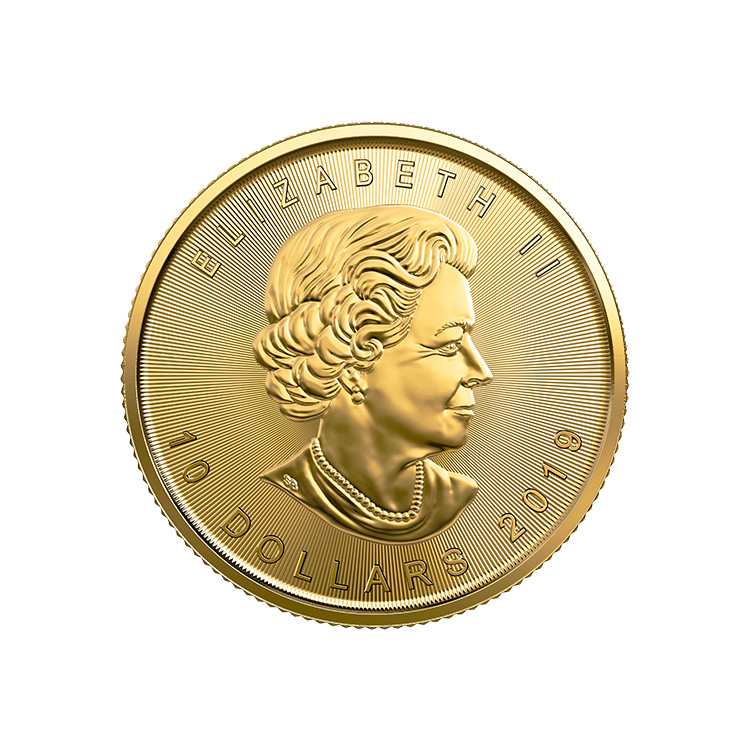 1 4 Oz Canadian Gold Maple Leaf Coin 2019
