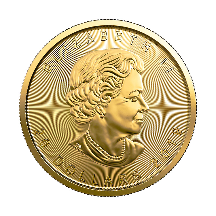 1 2 Oz Canadian Gold Maple Leaf Coin 2019 Buy Online