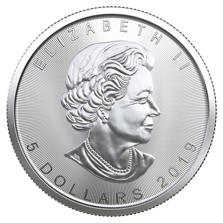 """2019  1 Troy oz .9999 Silver /"""" MAPLE LEAF /"""" Coin"""