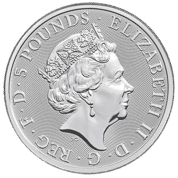 2 Oz British Queen S Beasts Unicorn Silver Coin 2017