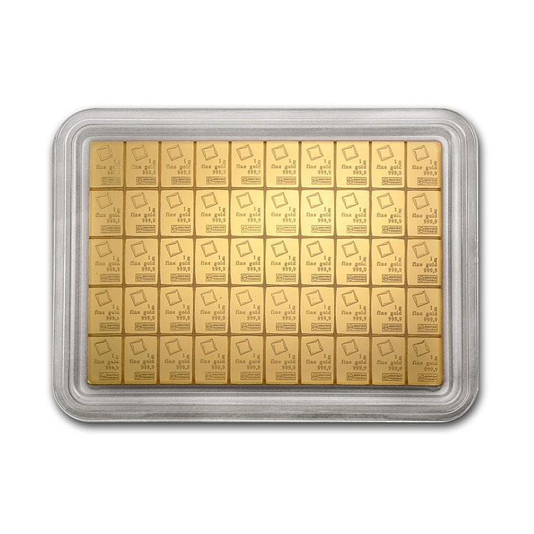 goldsilver.com - 50 Gram Valcambi Gold CombiBar Back