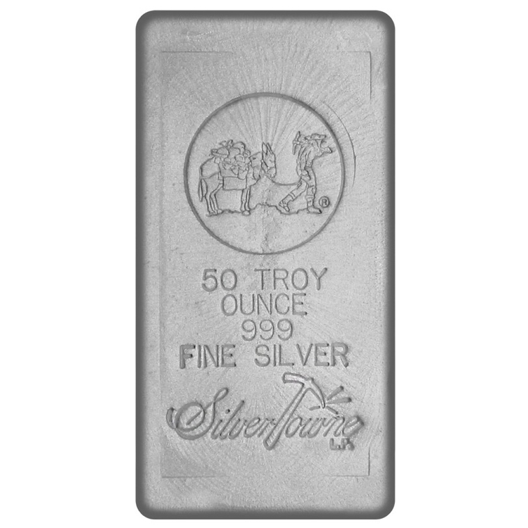 50 Oz Silver Bar Poured Online