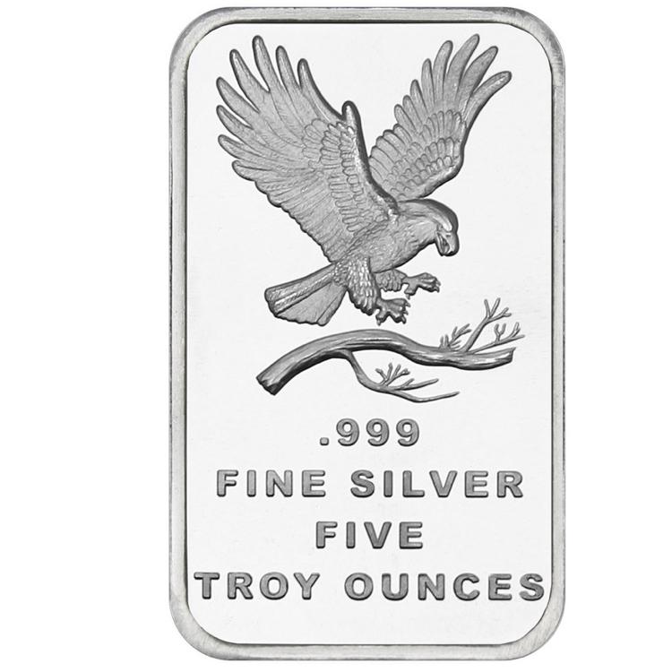 5 Oz Eagle Silver Bar Buy Online At Goldsilver
