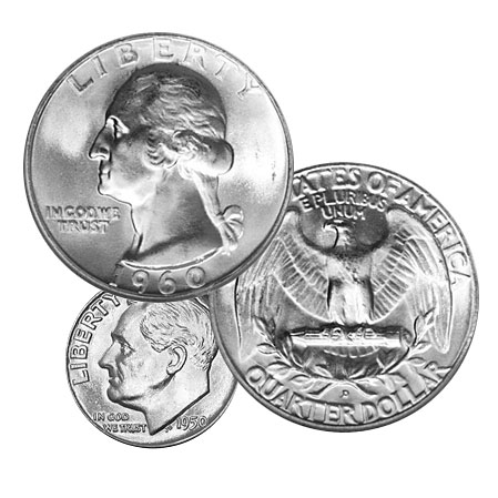 Silver Dimes Amp Quarters 1000 Bag Buy Online At Goldsilver 174