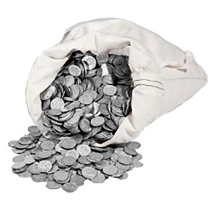 goldsilver.com - Buy 90% Silver Coins in a $100 Face-Value Bag Front