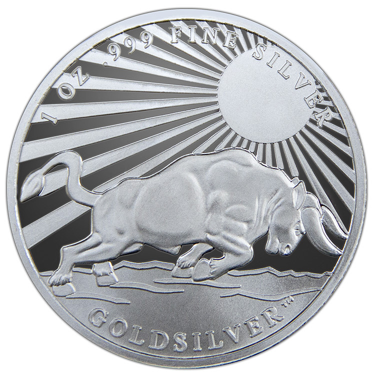 1 Oz Silver Bull Round Buy Online At Goldsilver 174