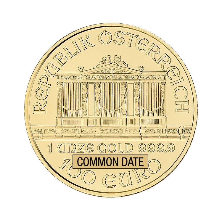 1 Oz Austrian Philharmonic Gold Coin Common Date Buy Online At