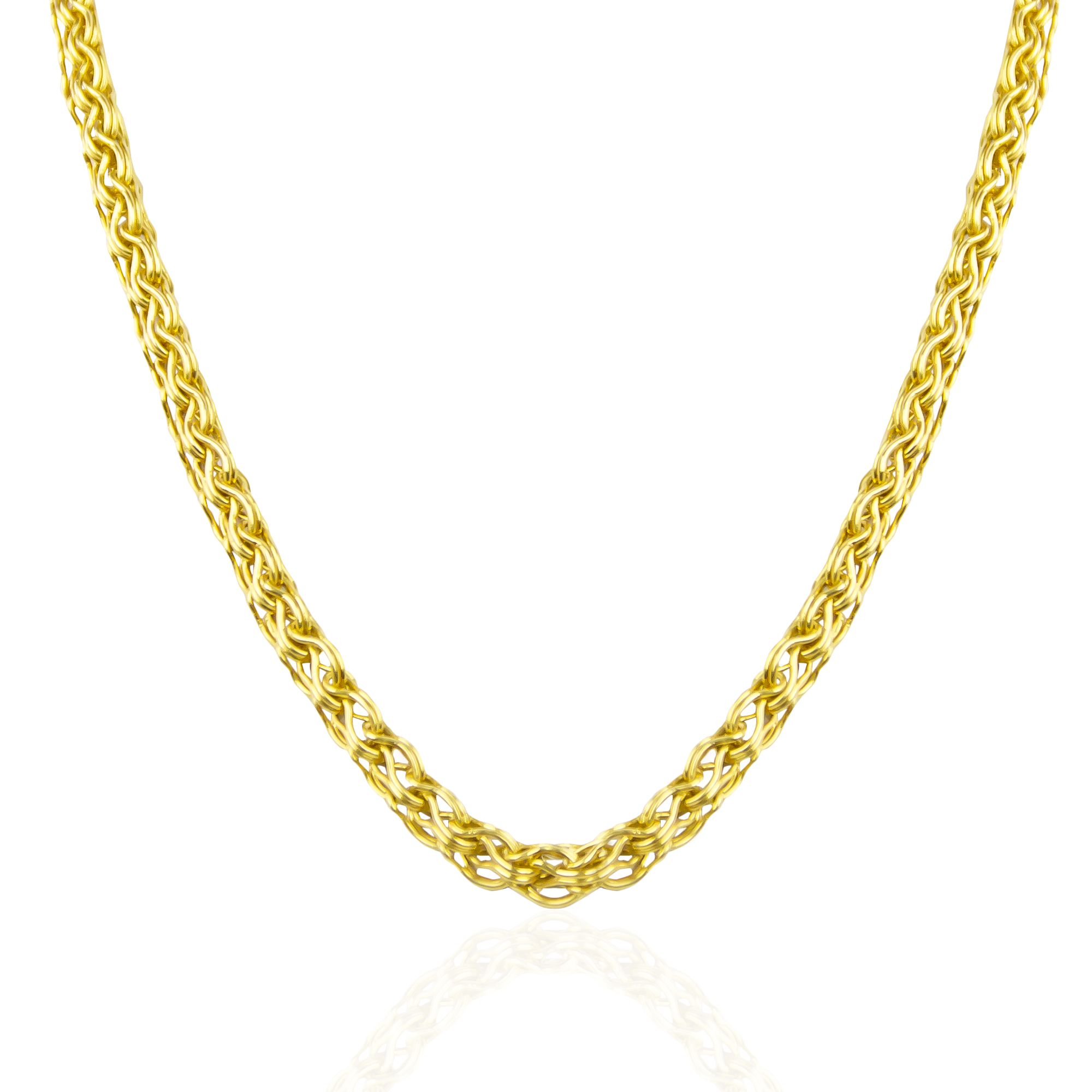 24k White Gold Necklace Mens