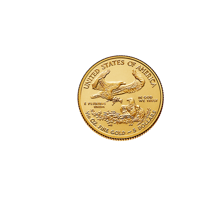 American Eagle Credit Card Login >> 1/10 oz Gold Eagle Coin (2019) - Buy Online at GoldSilver®