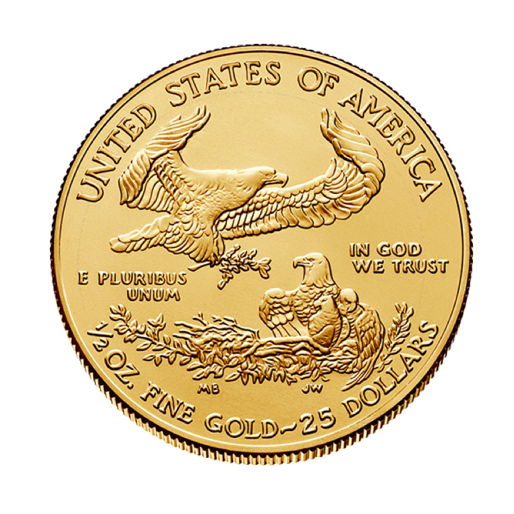 1 2 Oz American Gold Eagle Coin 2019 Buy Online At