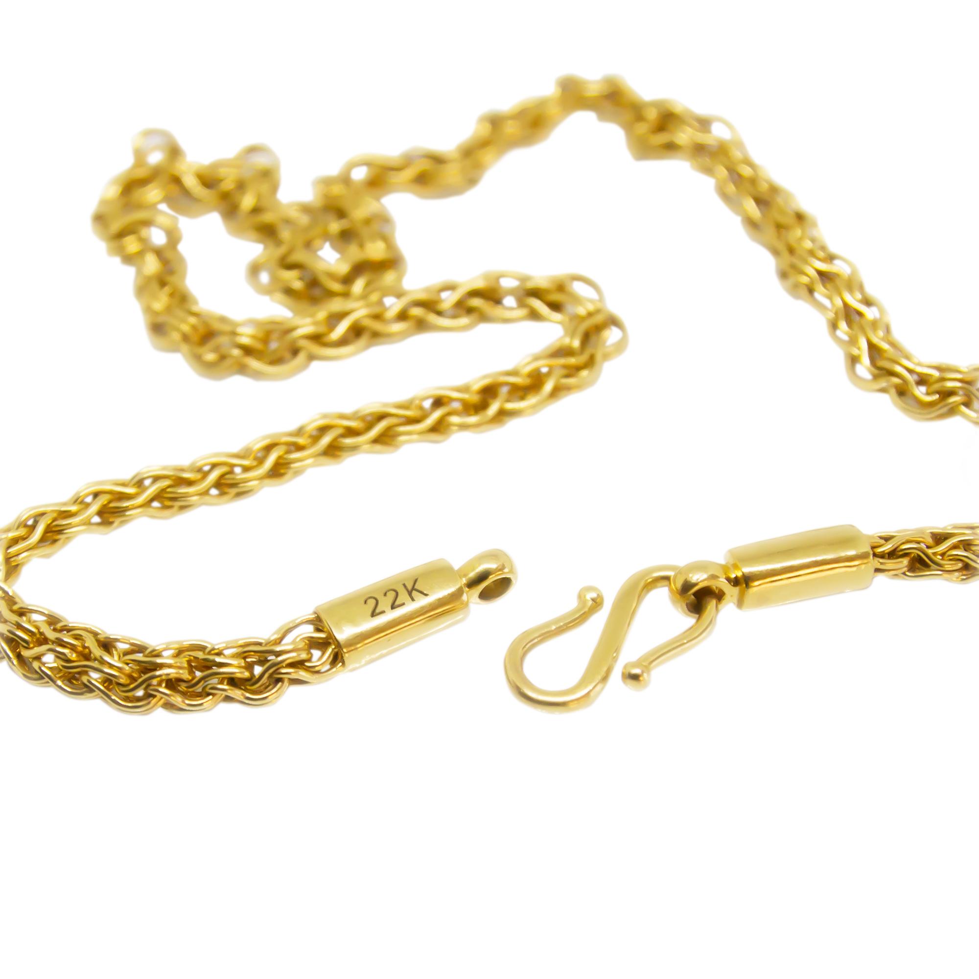 """22K Byzantine Gold Necklace 22"""" length Buy line at GoldSilver"""