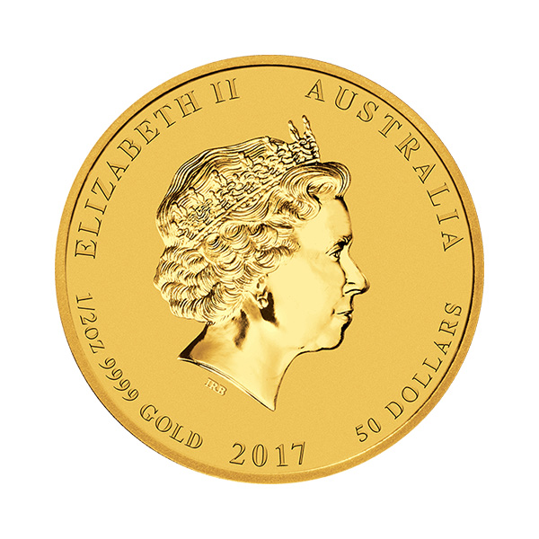 goldsilver.com - 1/2 oz Australian Gold Rooster Coin (2017) Front