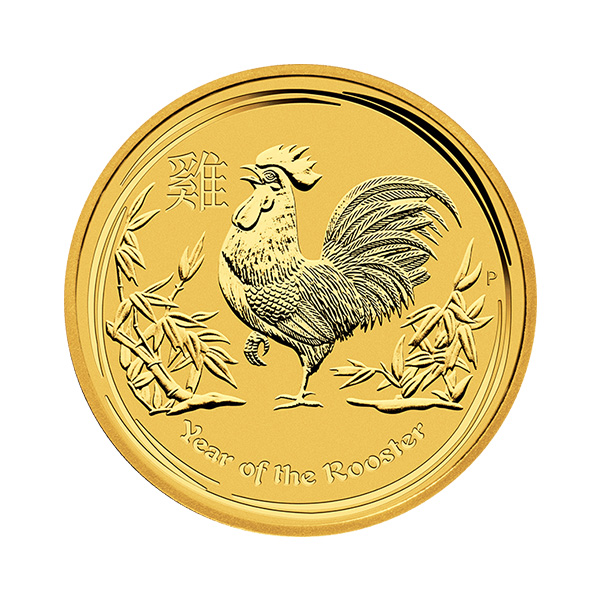 goldsilver.com - 1/4 oz Australian Gold Rooster Coin (2017) Back