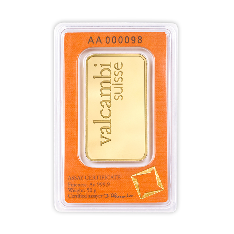 50 Gram Valcambi Gold Bar Buy Online At Goldsilver 174