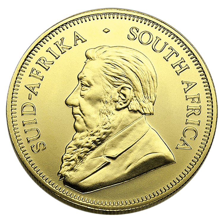 goldsilver.com - 1 oz South African Gold Krugerrand Coin Front